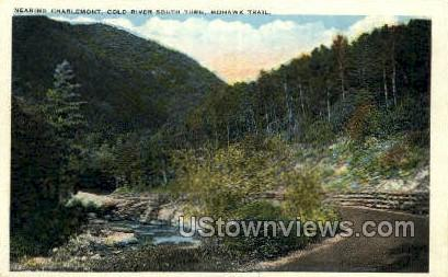 Charlemont, Cold River South Turn - Mohawk Trail, Massachusetts MA Postcard