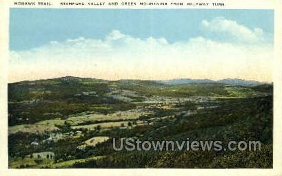 Stamford Valley, Green Mountains - Mohawk Trail, Massachusetts MA Postcard