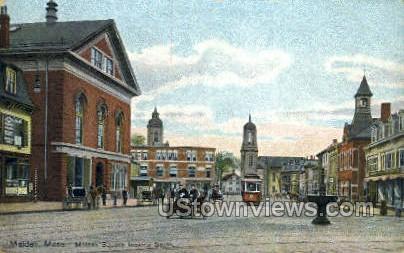 Malden Square - Massachusetts MA Postcard