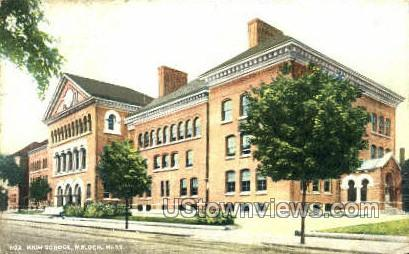 High School - Malden, Massachusetts MA Postcard
