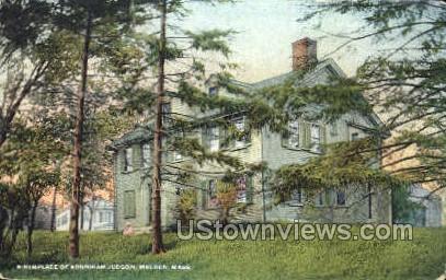 Birthplace of Adoniram Judson - Malden, Massachusetts MA Postcard
