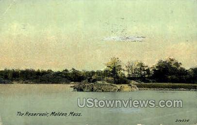 The Reservoir - Malden, Massachusetts MA Postcard