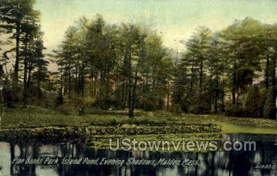 Pine Banks Park, Island Pool - Malden, Massachusetts MA Postcard