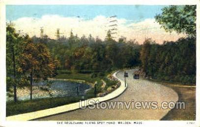 The Blvd. - Malden, Massachusetts MA Postcard