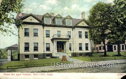 Home for the Aged Persons - Malden, Massachusetts MA Postcard
