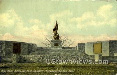 Bell Rock Memorial Park - Malden, Massachusetts MA Postcard