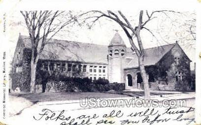 Converse Memorial Library - Malden, Massachusetts MA Postcard