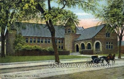 Public Library - Malden, Massachusetts MA Postcard