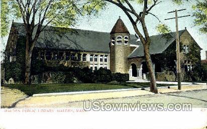 Malden Public Library - Massachusetts MA Postcard