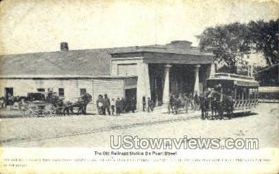 The Old Railroad Station - Malden, Massachusetts MA Postcard