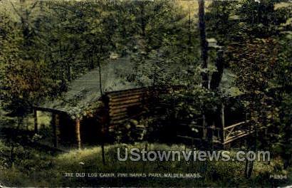 The Old Log Cabin - Malden, Massachusetts MA Postcard