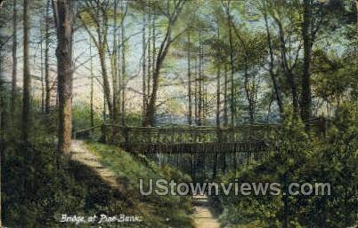 Bridge, Pine Banks Park - Malden, Massachusetts MA Postcard