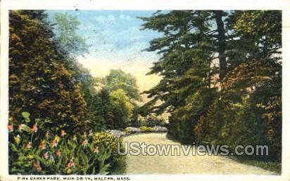 Main Drive, Pine Banks Park - Malden, Massachusetts MA Postcard