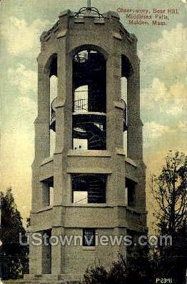Bear Hill, Middlesex Falls - Malden, Massachusetts MA Postcard