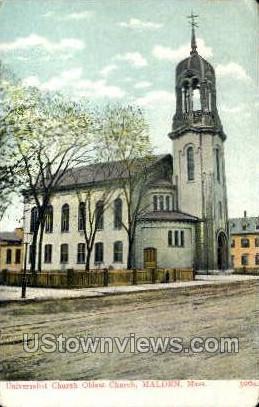 Universalist Church - Malden, Massachusetts MA Postcard