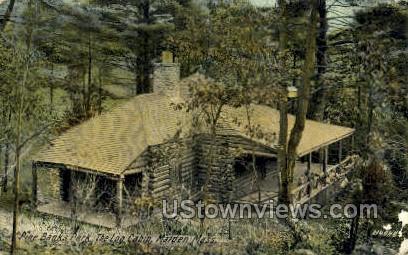 The Log Cabin, Pine Banks Park - Malden, Massachusetts MA Postcard