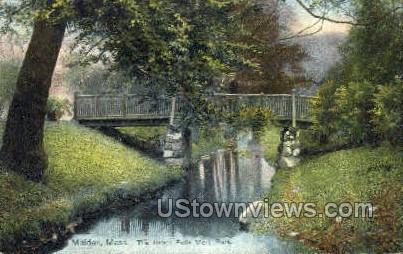 The Brook Fells, Mere Park - Malden, Massachusetts MA Postcard