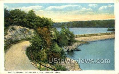 The Causeway - Malden, Massachusetts MA Postcard