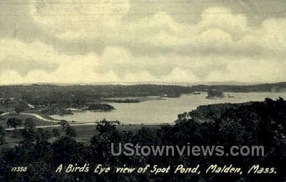 Spot Pond - Malden, Massachusetts MA Postcard