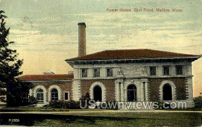 Power House, Spot Pond - Malden, Massachusetts MA Postcard