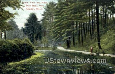 Island Pond - Malden, Massachusetts MA Postcard