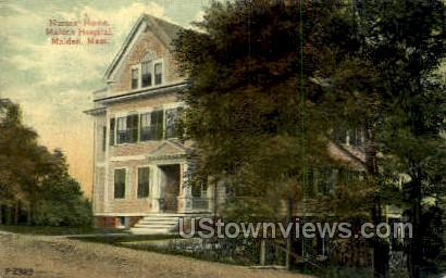 Nurses Home, Malden Hospital - Massachusetts MA Postcard