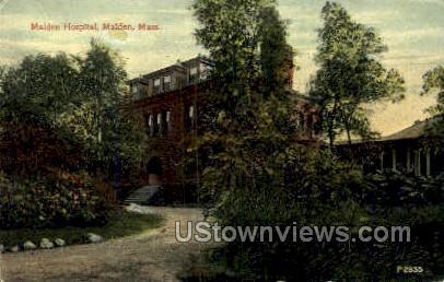 Malden Hospital - Massachusetts MA Postcard