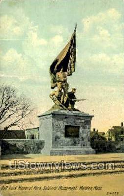 Soldiers Monument - Malden, Massachusetts MA Postcard