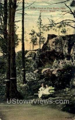 A Rocky Nook, Pine Banks Park - Malden, Massachusetts MA Postcard