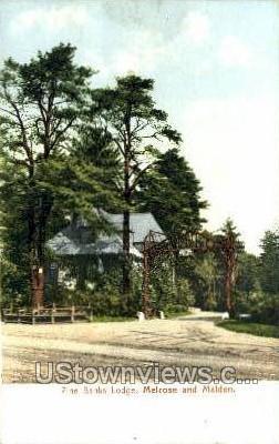Pine Banks Lodge - Malden, Massachusetts MA Postcard