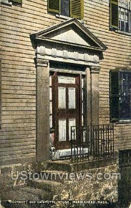 Doorway, Old Lafayette House - Marblehead, Massachusetts MA Postcard