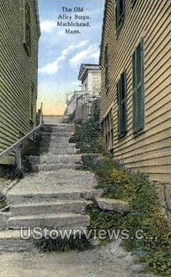 The Old Alley Steps - Marblehead, Massachusetts MA Postcard