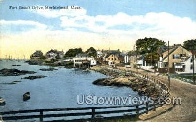 Fort Beach Drive - Marblehead, Massachusetts MA Postcard