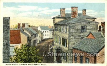Old Street - Marblehead, Massachusetts MA Postcard