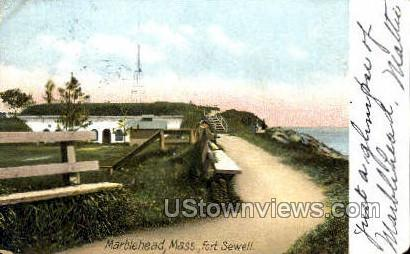 Fort Sewall - Marblehead, Massachusetts MA Postcard