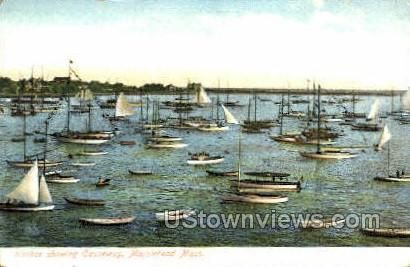 Harbor - Marblehead, Massachusetts MA Postcard