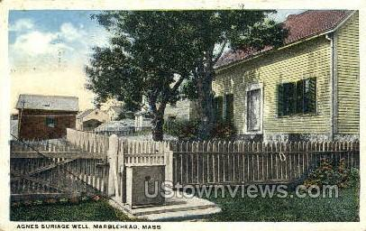 Agnes Suriage Well - Marblehead, Massachusetts MA Postcard