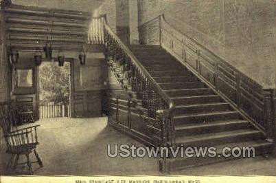 Main Staircase, Lee Mansion - Marblehead, Massachusetts MA Postcard