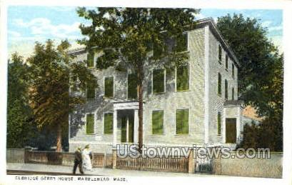 Elbridge Gerry House - Marblehead, Massachusetts MA Postcard