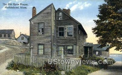 The Old Spite House - Marblehead, Massachusetts MA Postcard