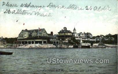 Corinthian Yacht Club House - Marblehead, Massachusetts MA Postcard