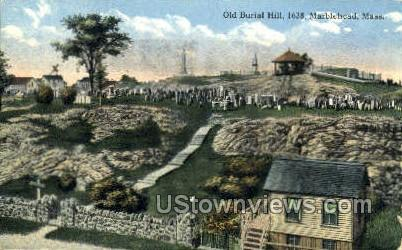 Old Burial Hill - Marblehead, Massachusetts MA Postcard