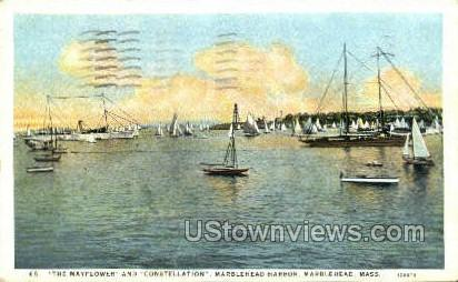 The Mayflower & Constellation - Marblehead, Massachusetts MA Postcard