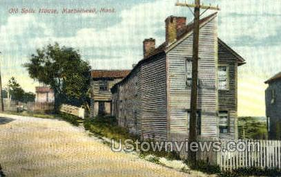 Old Spite House - Marblehead, Massachusetts MA Postcard
