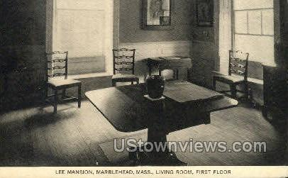 Living Room, Lee Mansion - Marblehead, Massachusetts MA Postcard