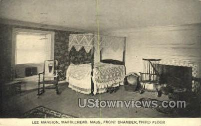 Front Chamber, Lee Mansion - Marblehead, Massachusetts MA Postcard