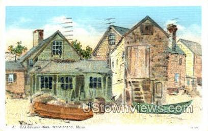 Old Lobster Huts - Marblehead, Massachusetts MA Postcard