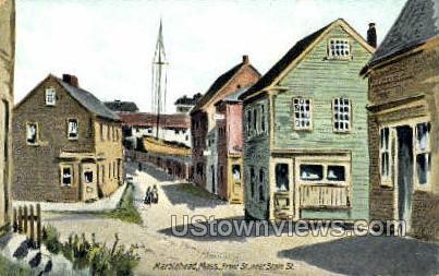 Front St. - Marblehead, Massachusetts MA Postcard