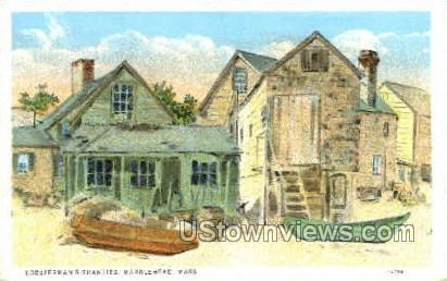 lobsterman's Shanties - Marblehead, Massachusetts MA Postcard