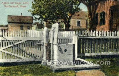 Agnes Surriage Well - Marblehead, Massachusetts MA Postcard